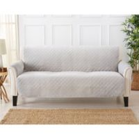 Velvet Sofa Furniture Protector Cover in Grey