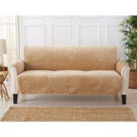 Velvet Sofa Furniture Protector Cover in Sand