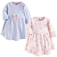 Touched by Nature Size 4T 2-Pack Floral Organic Cotton Dresses in Pink