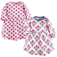 Touched by Nature Size 2T 2-Pack Floral Long Sleeve Dresses in Pink