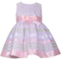 Bonnie Baby Size 4T 2-Piece Floral Ribbon Dress and Panty Set in Pink
