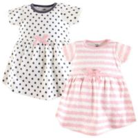 Touched by Nature Size 4T 2-Pack Scribble Organic Cotton Dresses in Pink