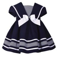 Bonnie Baby Size 4T Nautical Collar Dress in Navy