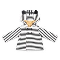 The Peanutshell® Size 6M Zebra Stripe Jacket in Black/White