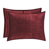 J. Queen New York™ Glacier Standard Pillow Sham in Wine