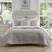 Piper & Wright Hadley King Coverlet in Silver