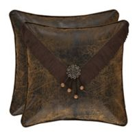 J. Queen New York™ Taos Embroidered Square Throw Pillow in Brown