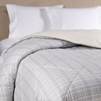 The Seasons Collection® HomeGrown™ Flannel Plaid Twin Comforter in Neutral
