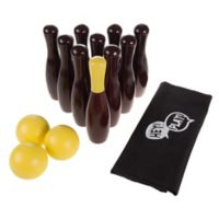 Hey! Play! Wooden Lawn Bowling Game in Blue/Yellow