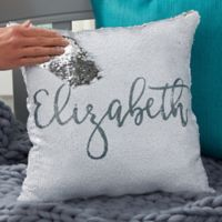 Mermaid Sequin Personalized Throw Pillow