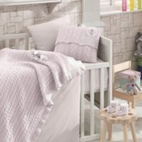 Nipperland® Rose Garden 6-Piece Crib Bedding Set in Pink