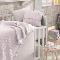 Nipperland® Rose Garden 6-Piece Crib Bedding Set in Pink