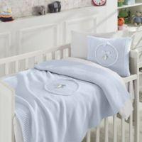 Nipperland® 6-Piece Teddy Bear Crib Bedding Set in Blue