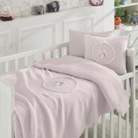 Nipperland® 6-Piece Teddy Bear Crib Bedding Set in Pink