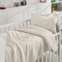 Nipperland® 6-Piece Teddy Bear Crib Bedding Set in Beige