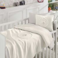 Nipperland® 6-Piece Teddy Bear Crib Bedding Set in Cream