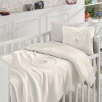 Nipperland® 6-Piece Teddy Bear Crib Bedding Set in Cream