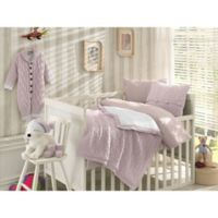 Nipperland® 6-Piece Boutique Crib Bedding Set in Pink