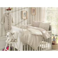Nipperland® 6-Piece Boutique Crib Bedding Set in Beige