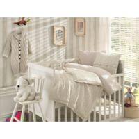Nipperland 6 Piece Boutique Crib Bedding Set In Beige