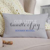 Darling Baby Boy Personalized Lumbar Keepsake Pillow