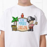 Lil' Pirate Personalized Hanes® Youth T-Shirt