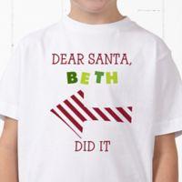 Dear Santa Personalized Hanes® Youth T-Shirt