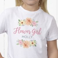 Floral Wreath Flower Girl Personalized Hanes® Youth T-Shirt