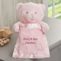 Gund® Embroidered Peek-A-Boo Pink Teddy Bear - Pink