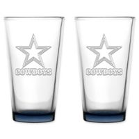 NFL Dallas Cowboys 16 oz. Embossed Pint Glasses (Set of 2)