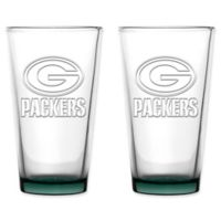 NFL Green Bay Packers 16 oz. Embossed Pint Glasses (Set of 2)