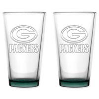NFL Green Bay Packers 16 oz. Embossed Pint Glasses (Set of 2)