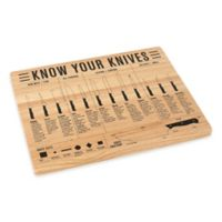 Know Your Knives 10-Inch x 12.7-Inch Wood Cutting Board