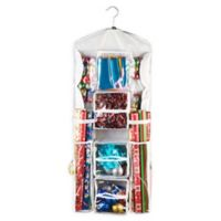 "Elf Stor 37.4"" Double Sided Hanging Gift Wrap and Bag Organizer"