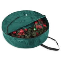 Elf Stor 36-Inch Artificial Christmas Wreath Storage Bag in Green
