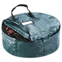 Elf Stor 24-Inch Artificial Christmas Wreath Storage Bag in Green