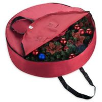 36-Inch Artificial Christmas Wreath Storage Bag in Red