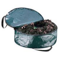 Elf Stor 30-Inch Deluxe Artificial Christmas Wreath Storage Bag in Green