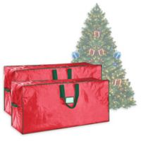 Elf Stor 7.5-Foot Artificial Christmas Tree Storage Bags in Red (Set of 2)