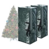 Elf Stor 7.5-Foot Artificial Christmas Tree Storage Bags in Green (Set of 2)