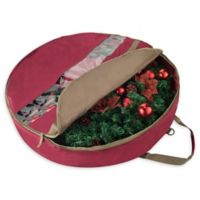 Elf Stor 30-Inch Ultimate Christmas Wreath Storage Bag in Red