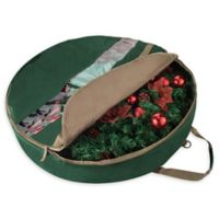 Elf Stor 30-Inch Ultimate Christmas Wreath Storage Bag in Green