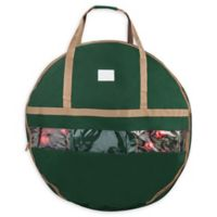 Elf Stor 24-Inch Ulimate Christmas Wreath Storage Bag in Green
