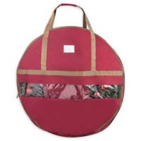 Elf Stor 36-Inch Ultimate Artificial Christmas Wreath Storage Bag in Red