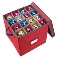 Elf Stor Holiday 64-Count Ornament Chest in Red