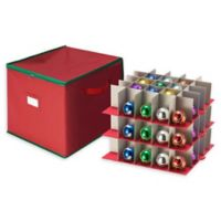 Tiny Tim Totes 75-Count Ornament Storage Chest in Red