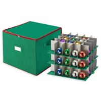 Tiny Tim Totes 75-Count Ornament Storage Chest in Green