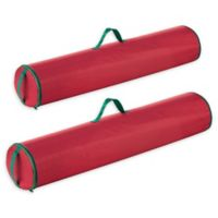 Tiny Tim Totes Wrapping Paper Storage Bag in Red (Pack of 2)