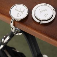 Signed with Love Engraved Purse Hanger
