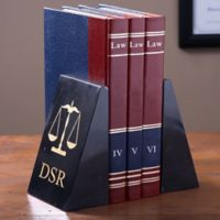 Law Icons Personalized Marble Bookends